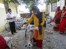 गढी गाउँपालिका भित्रका ४५ वटा बालविकास केन्द्रका स.का.हरुलाई  गढी गा.पा. द्धारा लेडीज साइकल वितरण कार्यक्रम सम्पन्न भएको छ | वितरण कार्यक्रमको किही झलक तस्वीरहरु |